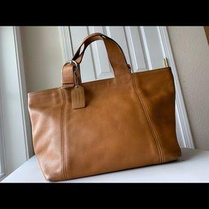 Coach Vintage Camel Leather Handbag EUC 4133